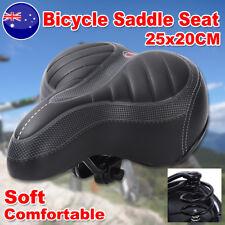 Soft Large Bum Bike Bicycle Gel Ladies Cycling Sprung Saddle Seat Comfortable AU