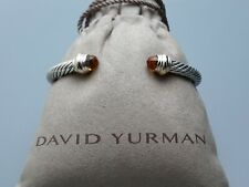 David Yurman 5mm Cable Classics Bracelet with Citrine and 14K Gold size Small