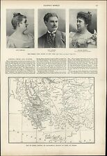 Map Greece Crete Turkey Europe 1897 vintage newsprint old sheet paper