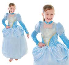 Child Girls Blue Princess Royal #family Fancy Dress Costume Party 3 Sizes Cc128 L