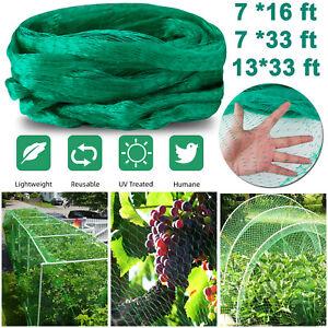 16/33 FT Anti-Bird Netting Garden Farm Plant Net Reusable Heavy Duty Nylon Mesh