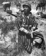 Moroccan Goumier Fighter Italy Bayonet WW2 1944, 5x5 Inch Reprint Photo