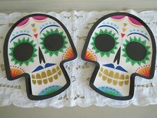 2 Sugar Skull Melamine Day of the Dead Serving / Dinner Plate Dish