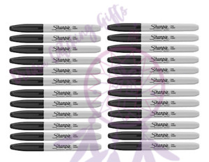NEW Sharpie Permanent Markers 24 Black Sharpies Sharpie Marker Fine Tip Pen Set!