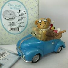 Cherished Teddies Life Keeps Us On The Move 114102 Robin Girl Blue Car Figurine