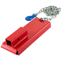 "Forklift Hitch Receiver Trailer Adapter 2"" Safety Chain Trailer Powder Coated"