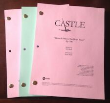 "CASTLE TV SHOW Script ""HOME IS WHERE THE HEART STOPS  "" Ep #106, NATHAN FILLION"