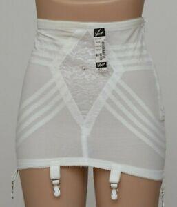 Rago 1361 - SIX garter OPEN BOTTOM GIRDLE, OBG, corset White / Black CD L-XL-2XL