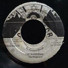 """General Plough - Raindrops / Dub - Originator 7"""" 45T Rare Roots Reggae VG+ ♫"""