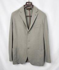 LORO PIANA Gray Soft 100% Baby Cashmere Elbow Blazer Coat Jacket 52 42 $4995!