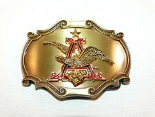 Vintage 1978 Belt Buckle Anheuser Busch Star Eagle Letter A Enameled