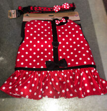 New Disney Tails~Minnie Mouse ~Harness for Dogs & Collar Size Xl