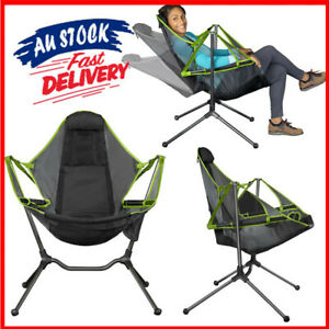 Chair Camping Swing Luxury Recliner Swinging Comfort Lean Back Folding Outdoor