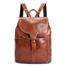 Women's Girls Genuine Leather Backpack Satchel Rucksack Shoulder School Bag