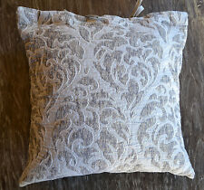 SDH Genoa Textured Pearl Silver Patterned Decorative Pillow