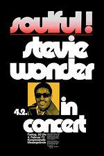 Stevie Wonder at Germany Concert Tour Poster Circa 1972