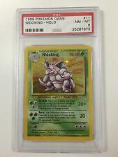 Pokemon Nidoking PSA 8 Near MINT! Base Set 11/102 NM - M