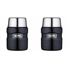 Thermos 16 oz. Stainless Steel Food Jar with folding Spoon (Midnight Blue) - 2PK