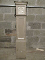 ~ ANTIQUE CARVED OAK NEWEL POST 48.25 TALL ~  ARCHITECTURAL SALVAGE ~