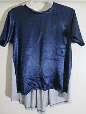 C&C California Women's Dark blue gray pleated back design size small  NWT