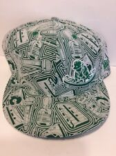 VERY RARE Fitted New Era Baseball Cap Hat, Hip Hop, Rap, Turntable, DJ, Green
