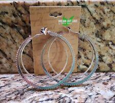 Fashion Earrings Hoop 1 Pair Dream out Loud Selena Gomez Silver color Black NEW