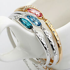 beautiful NEW Fashion gold Plated pretty Austria Crystal Lady cute Women Bangle