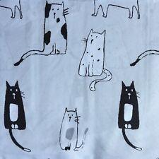 Cynthia Rowley Twin Sheet Set Gray/Black Cats  3 Piece Set Microfiber