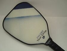 SUPER NEW ENGAGE ENCORE TEAR DROP PICKLEBALL PADDLE ENHANCED CONTROL SPIN BLUE