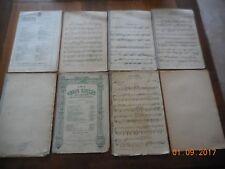 LOT 8 PARTITIONS POUR VIOLON - DELIBES - SELLENICK - MASSENET - E. TAVAN