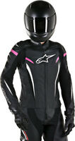 Alpinestars Stella GP Plus R V2 Leather Jacket Size 50 Black/White/Pink 14