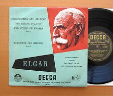 "LW 5047 Elgar Introduction & Allegro Serenade Collins Decca 10"" Black Gold Label"