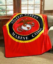 US MARINE CORPS 76x96 Queen BLANKET : USMC SEMPER FI AMERICAN SOFT BED COVER