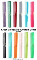 Krest Combs 400 Hair Comb Cutting Comb Barber Comb Stylist Combs Comb Set 12 Pc.