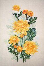 """Cross Stitch Kit MARYA ISKUSNITSA (MARY WEAVER) - """"Yellow chrysanthemums"""""""