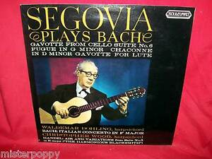 SEGOVIA plays BACH LP AUSTRALIA 1971 MINT-