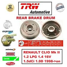 FOR RENAULT CLIO Mk II 1.2 LPG 1.4 16V 1.5dCi 1.9D 1998->on 1x REAR BRAKE DRUM