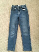 New Mom Blue Jeans Primark, UK 4 High Waisted  Stretchy