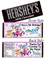 12 My Little Pony Birthday Party Or Baby Shower Candy Hershey Bar Wrapper Favors