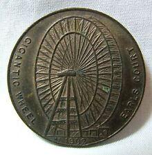 1902 medalla de rueda grande Earls Court Londres - 32mm-el primer London Eye
