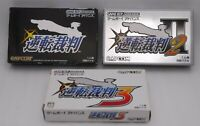 GBA Gyakuten Saiban 1 2 3 3Games Set w/ Box Japan import Gameboy Advance CAPCOM