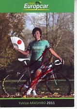 CYCLISME carte cycliste YUKIYA ARASHIRO équipe EUROPCAR 2011 signée
