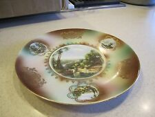 """CICO 10 1/4"""" GOLD TRIMMED PLATE BAVARIA,GERMANY WITH SCENIC VIEWS OF FARM SCENES"""