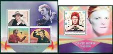 David Bowie In Memoriam Music Madagascar MNH stamp set