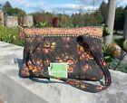 Vera Bradley CHOCOLAT Orange Floral Medium Shoulder Tote Bag Handbag Purse NWT