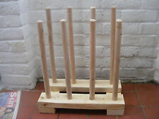 WELLY RACK,WELLY STORAGE,SOLID WOODEN WELLINGTON BOOT STAND 4 PAIRS.