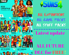 💞 The Sims 4 all Expansions + all game and stuff packs | Eco Lifestyle INCLUDED