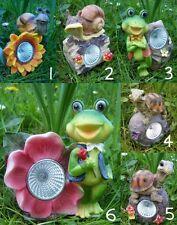 Solarlampe Garten-Tier Frosch Schnecke Schildkröte Gartendeko Solarleuchte