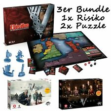 Riesgo Vikingos La Eroberung Europeos Juego de Mesa Estrategia + 2 Puzzles Lote
