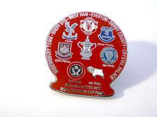Man United Road to Final vs Palace West Ham Shrewsbury Derby Sheffield Utd Badge